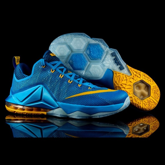 Nike Shoes Lebron James Mens Low Sky Blue Yellow Poshmark